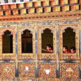Monjes en el monasterio de Tango