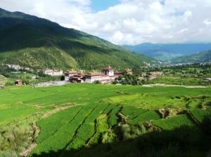 Tashichhoedzong en el valle de Thimphu
